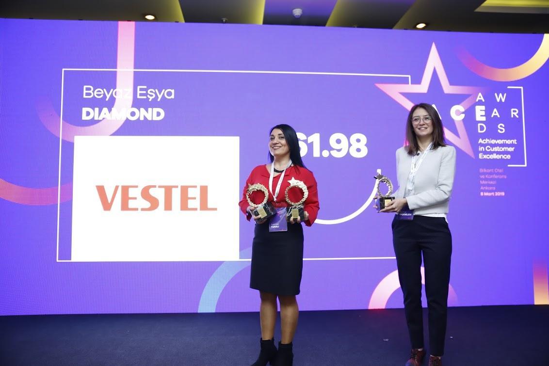 Vestel Müşteri Hizmetleri altıncı kez büyük ödülü aldı