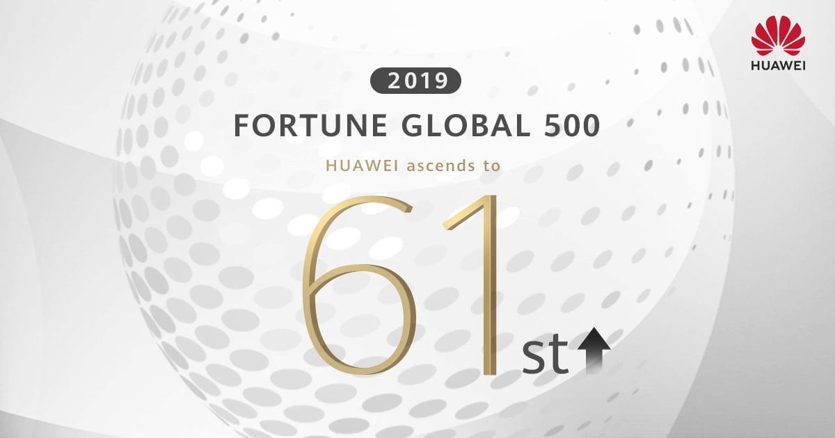 HUAWEI Tüketici Elektroniği, Fortune 500 listesinde 61. sıraya yükseldi.