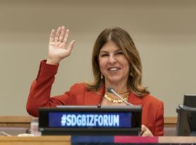Gamze Cizreli Birleşmiş Milletler'de yaptığı konuşmayla gururlandırdı.