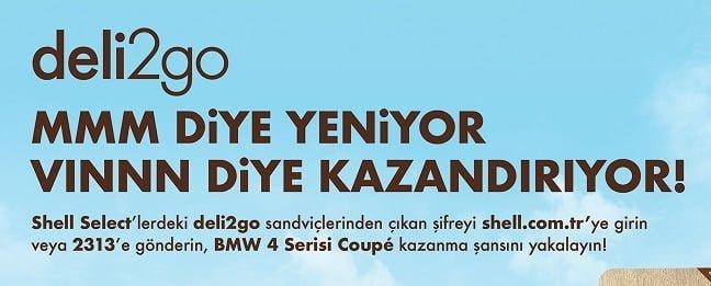 Shell deli2go sandviçler, BMW 4 serisi Coupé kazandırıyor.