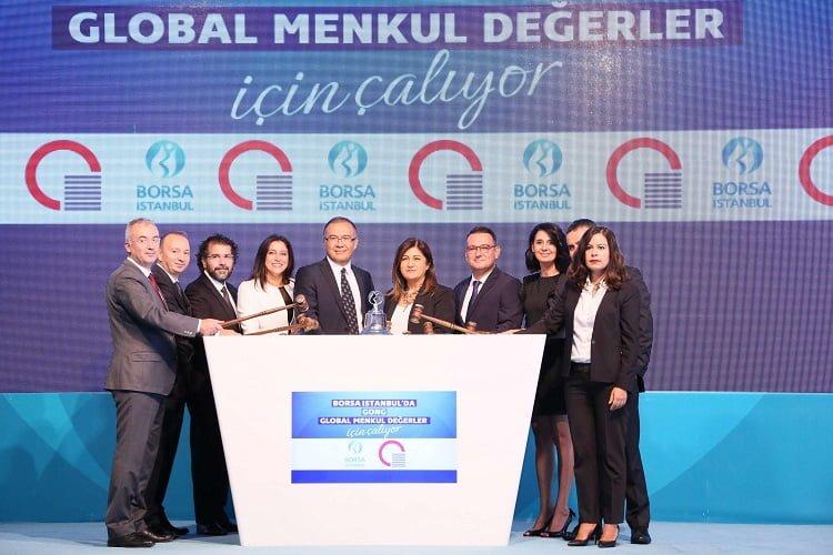 Global Menkul Değerler kuruluş yıldönümünü BIST'te gong töreni ile kutladı.