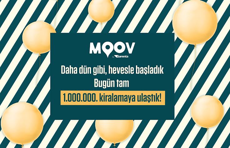 MOOV by Garenta'dan 1 milyonuncu kiralama.