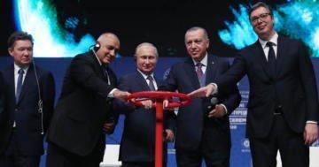 TürkAkım Doğalgaz Boru Hattı Açıldı.