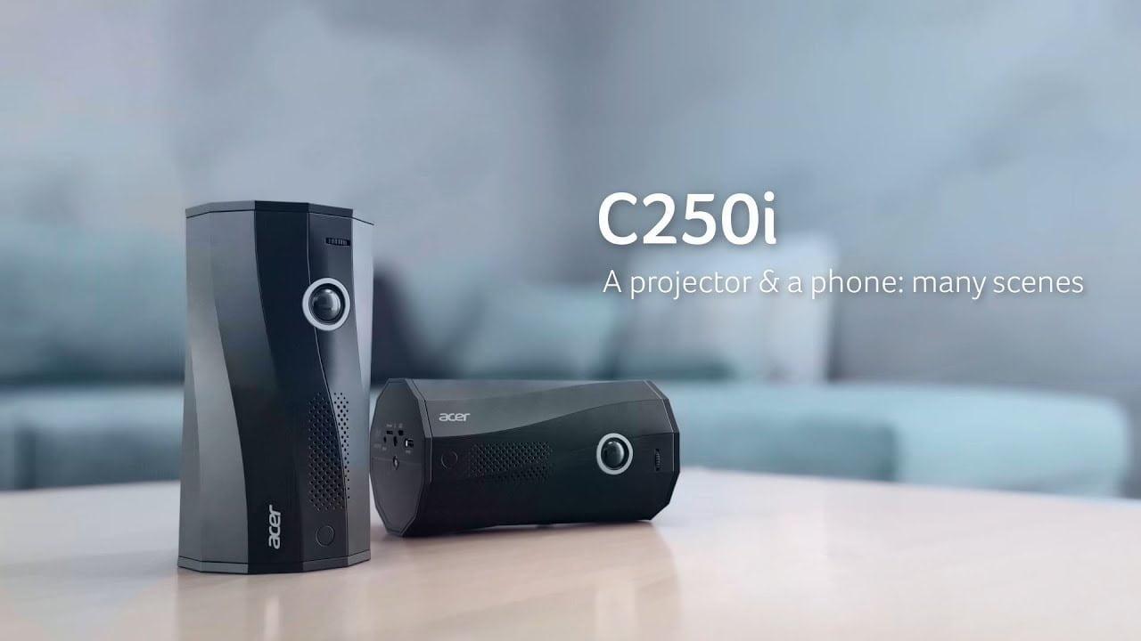 Silindir Tasarımıyla Fark Yaratan Çok Açılı LED Projektör: Acer C250i.