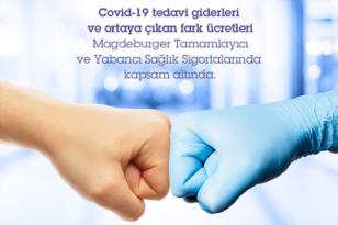 Magdeburger Sigorta, COVID-19 tedavi giderlerini karşılıyor.