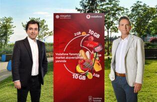 """Vodafone, """"Süpermarket Yanımda"""" ile ayda 100 bin alışveriş hedefliyor."""