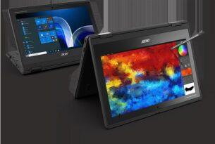 Acer Öğrenciler için Yeni ve Dayanıklı TravelMate Spin B3 tanıttı.