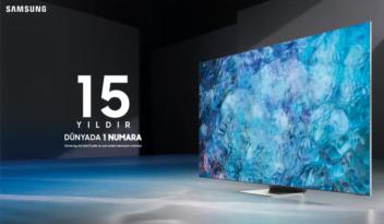 Samsung'un 15 yıldır dünyada 1 numaralı TV üreticisi