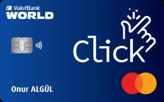 """Vakıfbank'tan anında kazandıran """"Click Kart"""""""