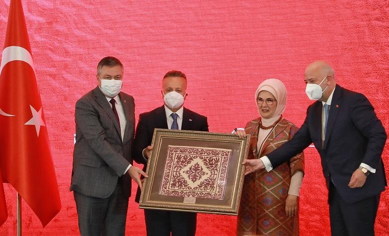 Dokuma Atlası Sergisi Cumhurbaşkanlığı Külliyesi'nde açıldı