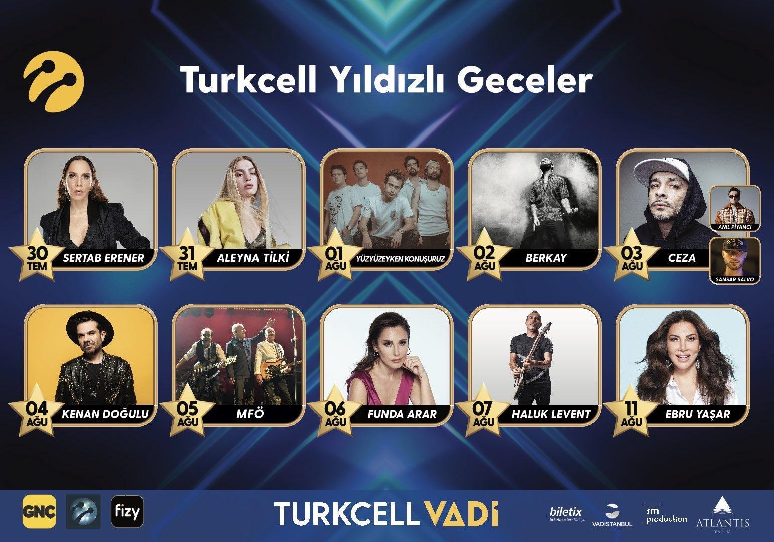 Turkcell'in efsane 'Yıldızlı Geceler' konserleri başlıyor