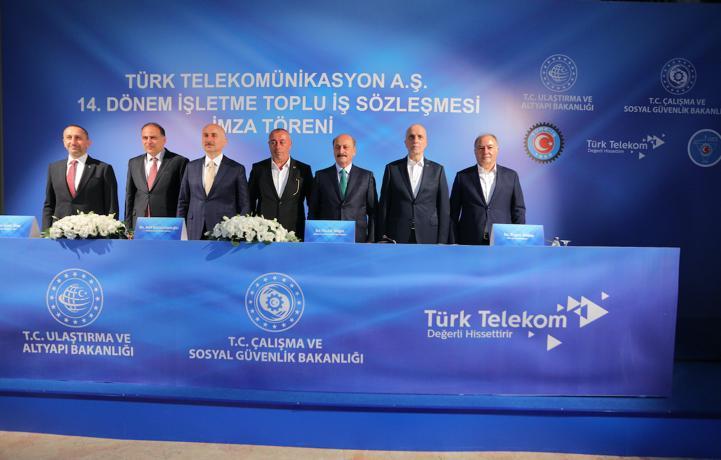 Türk Telekom'da'14. Dönem Toplu İş Sözleşmesi' imzalarıatıldı